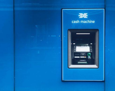blue cash machine