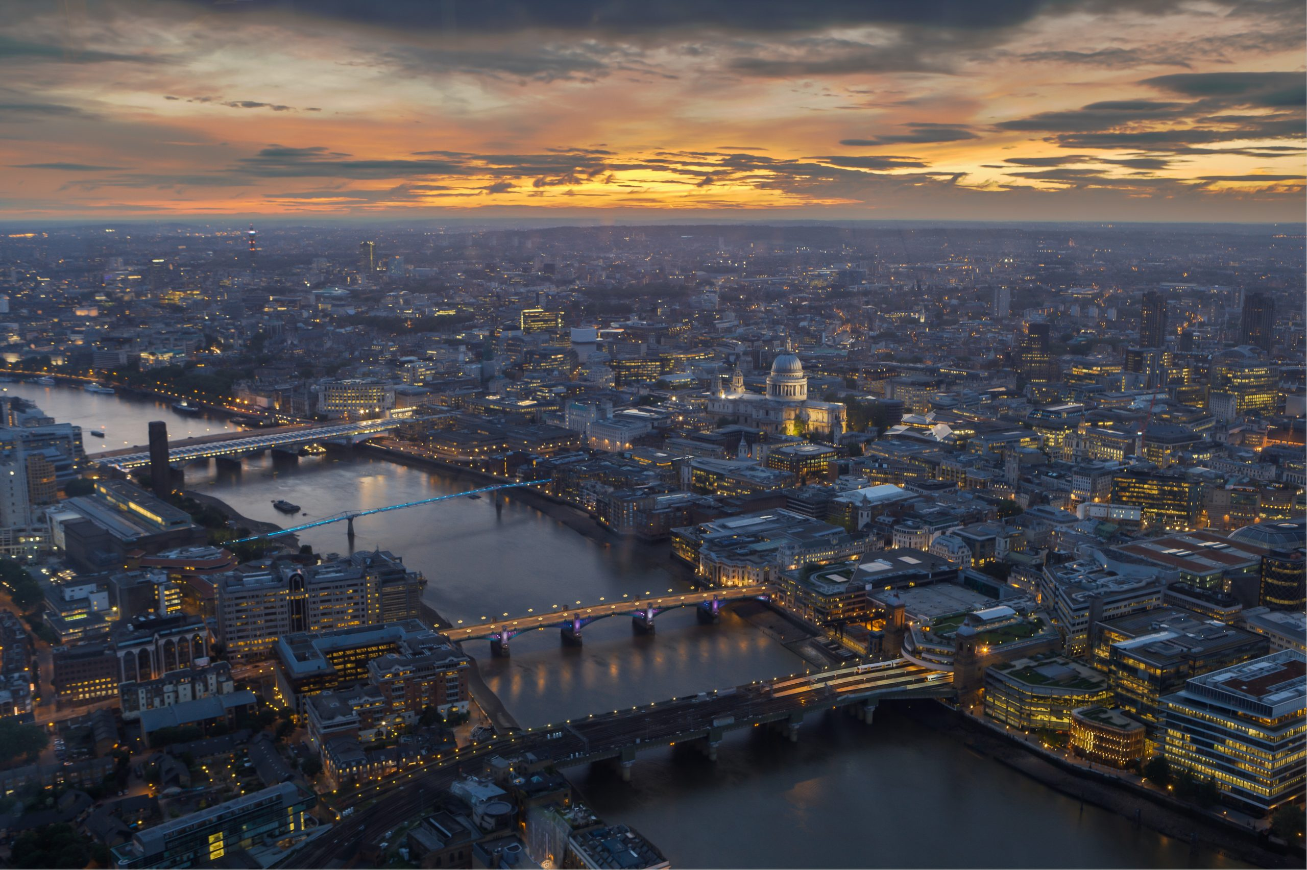 aerial view photography of the city